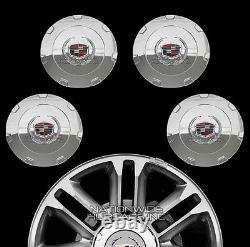Convient 2007-2015 Cadillac Escalade 22 Chrome Wheel Center Casquettes Rim Couvertures Rc