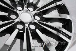 Convient Cadillac Xt5 2017-19 Chrome Noir 18 Roues Peaux Hub Casquettes En Alliage Rim Covers