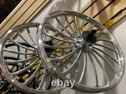 Custom 20 Bicycle Alloy Wheelset 18-spoke Rear Freewheel Bmx Cruiser Bikes