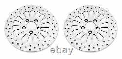 Dna Front & Rear Super Spoke 11.5 Rotors De Frein Poli Harley