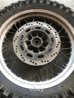 Dr650 Rear Wheel Brake Rotor Rim Hub Spokes Tire Dr 650 Suzuki Dr650 1996