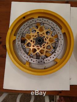 Ducati 748 916 996 998 Jaune Avant Arrière Roues À 5 Rayons Avec Rotors