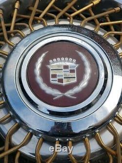 Enjoliveur De Roue Pour Enjoliveur De Moyeu À Rayons Gold, Kit Continental Cadillac E & G Des Années 1980 Rare Des Années 1980