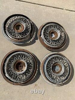 Ensemble De 1980-1996 S'adapte Impala Caprice Wire Spoke 15 Hubcaps Wheelcovers Utilisé