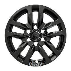 Ensemble De 4 18 5 Split Spoke Wheel Skins Pour 19-2020 Silverado 1500 Gloss Black