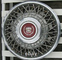Ensemble De 4 1981-1985 Cadillac Eldorado Séville 15 Spoke Fil Hubcaps Enjoliveurs