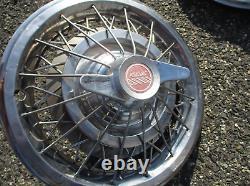 Fabrique 1964 1965 Pontiac 15 Pouces Fil Fil Rayon Spinner Hubcaps Couvertures De Roue