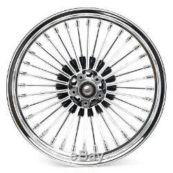 Fat Spoke 21x2.15 18x3.5 Roues Set Rim Chrome Pour Touring Heritage Softail Dyna