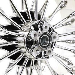 Fat Spoke Front Rear Wheels Dual Disc 21 X3.5 18x5.5 Touring Road King 2000-2007