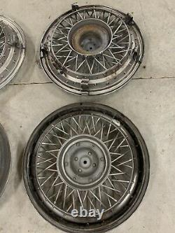 Fils De 1980-1996 Impala Caprice Wire Spoke 15 Hubcaps Wheelcovers Oem