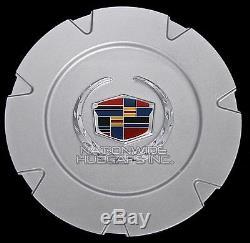 Fits 2007-14 Cadillac Escalade 18 Centre De Roue En Aluminium Cache-moyeux Rim Cover Hubs