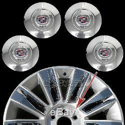 Fits 2015-2017 Cadillac Escalade 22 Centre De Roue Chrome Cache-moyeux Rim Lug Covers