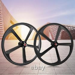 Fixe Gear 700c 5-spoke Mag Rim Avant Arrière Single Speed Fixie Bicycle Wheel Set
