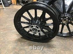 Harley 13 Spoke Front & Rear Wheel 20000 & Up Sealed Bearing Powder Coated