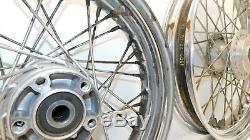 Harley Davidson Dyna Oem Fxd Modèles De Roue Arrière Avant Oem Rim Spoke 00-05