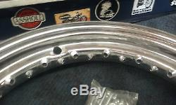 Harley Panhead Shovelhead Chrome 16 Rim Withchrome Pour 1940-1980 Spokes Big Twins