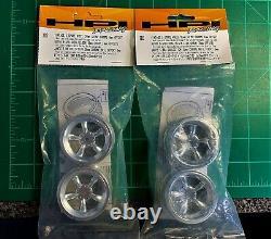 Hpi Vintage 5 Spoke Wheel 3817 Avant & 3822 Arrière Ensemble Complet Nouveau-en-paquet