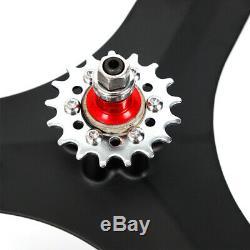 Jante De Roue Simple Et Arrière De Roue De Vélo (noire) 700c Fixie Fixed Gear À 3 Branches