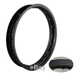 Jantes 1.60x21 2.15x18 Avant Arrière En Aluminium 36 Trous Pour Rayons Jantes Circle Black