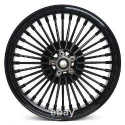 Jantes Noires 21''x3.5 / 18''x3.5'' 36 Spokes Wheels Rims For Dyna Super Glide Low Rider