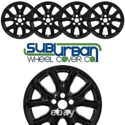 Jeep Cherokee Latitude 2014-2018 # 7913-gb 17 5 Y Spoke Black Wheel Skins Set/4