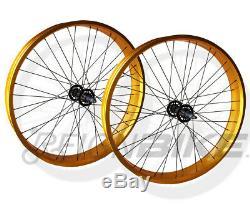 Jeu De Roues De Vélo Fat Bike New 26 Taille De Roue 4 Très Large 36 Rayons Avant Arrière