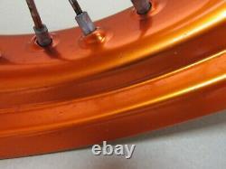 Ktm 690 Smc R Supermoto 2015 Roues À Rayons Avant Et Arrière Sans Saxless Orange (4905)