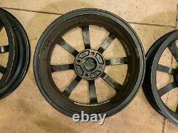 Lotus Elise Oem Noir 8 Spoke 16x5.5 Fronts 17x7.5 Arrières 4x100