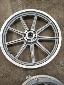 Mag Roues 86-99 Fxr Harley Cast 9 Neuf Spoke Front 19 Arrière 16 Rims Clean