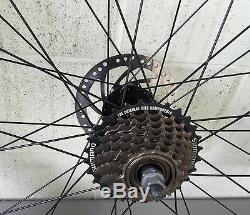 Mbi Fat 26 X 4,0 Arrière Et Avant Roue De Bicyclette 7 Vitesses 36 Rayons Frein À Disque Poli