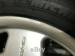 Mercedes Benz W210 Oem E55 Avant Arrière Ensemble Jante Et La Roue Des Pneus 18 Pouces Amg 98-02