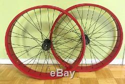 Micargi Fat 29 X 80mm Vélo Arrière Et Avant Roue 36 Rayons 7 Docup Frein À Disque Rouge
