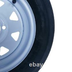 Millionparts Trailer Pneus Tubeless 5.30 X 12 4 Lug Wheel Spoke 4 Ply Qty2