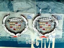 New 70 80 Années 90 Cadillac Toit Crest Couronne Nos Emblème Set Sail Panneau Trim Gm