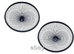 New Beach Cruiser Lowrider 26 144 Rayons Arrière & Front Bicycle Wheelset Noir