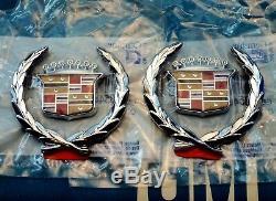 Nouveau 70 Cadillac Années 90 80 Toit Crest Couronne Nos Emblème Set Sail Panneau Ornement