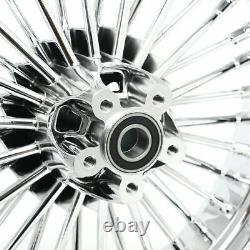 Nouveau Chrome Fat Spoke Front & Rear Wheel Rims Softail Touring 16 X 3.5