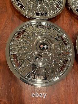 Nouveau Jeu De 1970-1996 Fits Impala Caprice Wire Rayon 15 Hubcaps Wheelcovers