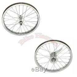 Nouveau! Lowrider Vélo Roue De Bicyclette 16 X 28 1,75 Acier Spoke Avant Et Roue Arrière