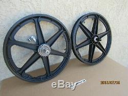 Nouveau Vélo Six Spokes Mag Wheel Set, Noir Avec Frein Coaster Pédale De Frein
