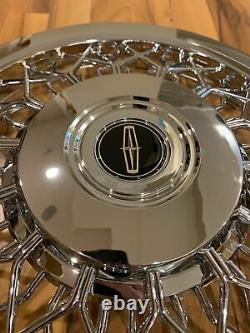Nouvel Ensemble De 1970-1996 S'adapte Lincoln Town Car Wire Spoke 15 Hubcaps Wheelcovers