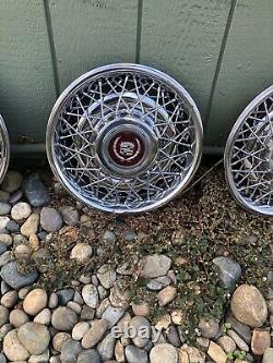 Oem 15 1986 -1992 Cadillac Fleetwood Brougham Wire Spoke Hubcap Wheel Cover