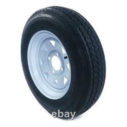 Pneus Et Jantes De Remorque 2pcs Sans Tube 4lug Wheel White Spoke 4ply 5.30-12