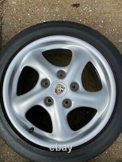 Porsche 996/993 Oem Factory Genuine Turbo Look 5 Spoke 17 Wheel/pneus & Cap Set