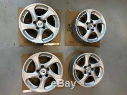 Porsche 996 Gt2 Oem Factory Ensemble De Roues / Pneus Et Capuchons D'origine Turbo Twist 5 Rayons 18