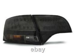 Pour Audi A4 B7 04-08 Rs4 Look Honeycomb Grill+led Feux Arrière Bumper Diffuseur