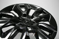 Pour Chevrolet Silverado 1500 2019-2021 Black 20 Wheel Skins Hub Caps Rim Covers