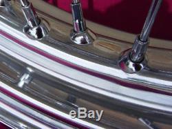 Pour Harley Dyna Softail Std 40 Spoke 21 Avant 16 Arrière Chrome Roues Pièces