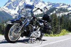 Roue De Rayons De Graisse 16x3.5 Ensemble Avant Arrière Pour Modèles Harley Touring Bagger 1984-2008