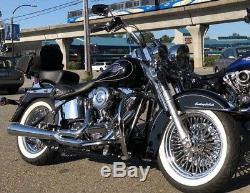 Roue De Rayons De Graisse 18x3,5 Avant Et Arrière Pour Modèles Harley Touring Bagger 2000-2008